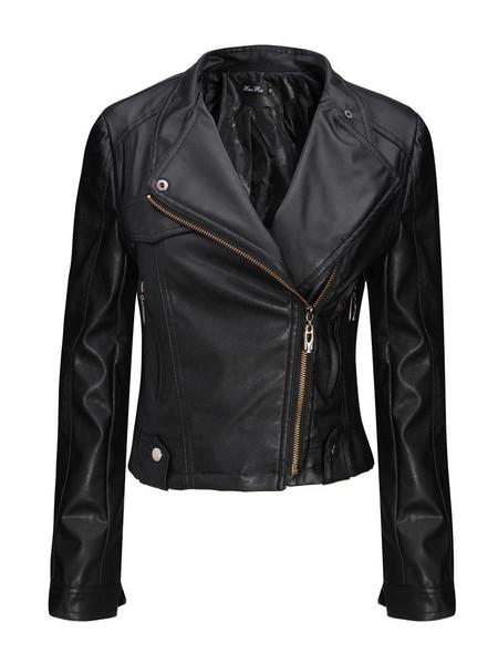 Zippa detail biker jacket
