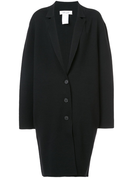 Dvf Diane Von Furstenberg coat oversized long women black knit