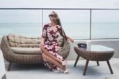 my blonde gal,blogger,dress,belt,bag,scarf,sunglasses,shoes,maxi dress,floral maxi dress