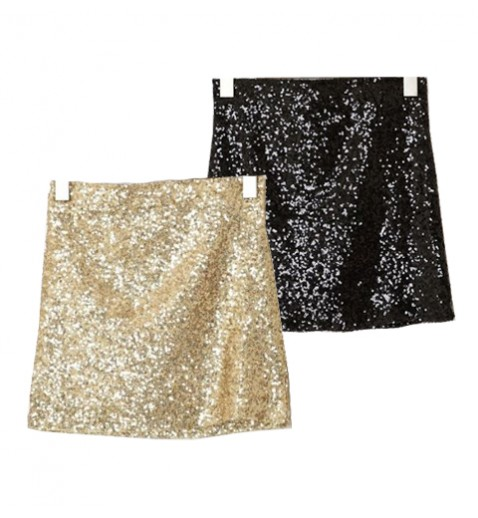Sequin body con skirt
