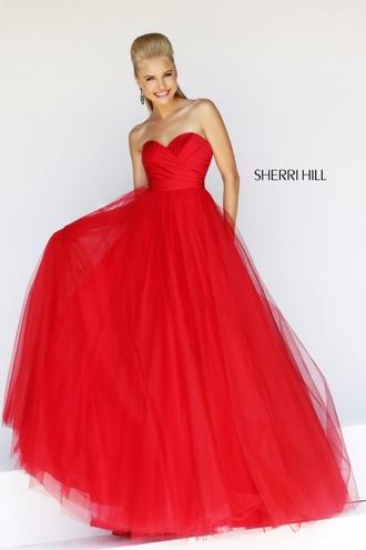 dress red cherrihill cherri hill fashion red dress prom dress red prom dress sherri hill