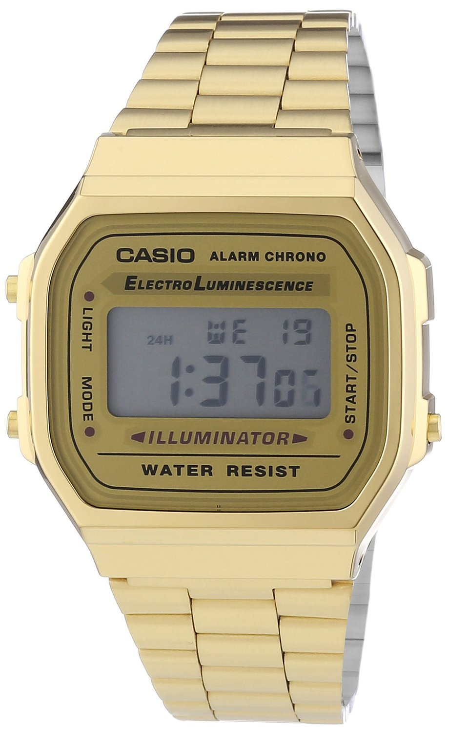 Amazon.com: CASIO The Medium Digital Watch in Gold: Casio: Clothing