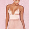 Clothing : bodysuits : 'larisse' blush triangle cup silky jersey bodysuit
