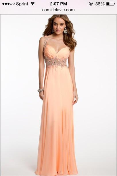 dress prom dress coral dress mint dress