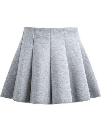 skirt grey flare grey skirt heather grey gray flare skirt pleated pleated skirt high waisted skirt