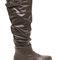 Strap 'em up slouchy knee-high boots taupe black chestnut - gojane.com