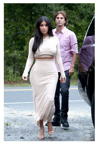 skirt shoes top shirt kim kardashian