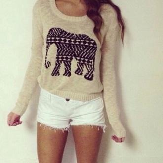 shirt elephant sweater hoodie cute women
