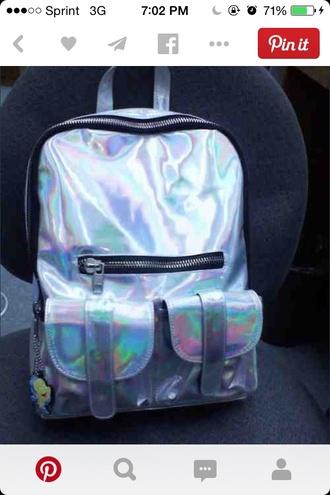 bag metalic bookbag backpack