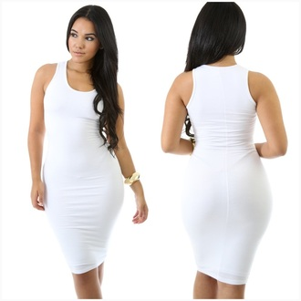 dress white bodycon dress tank dress