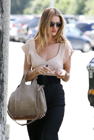 duffle alexander wang rosie huntington-whiteley celebrity style bag