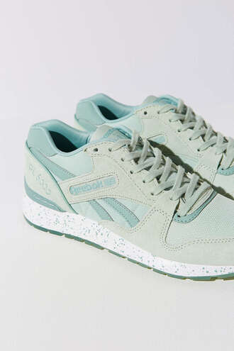 shoes pastel sneakers sneakers mint urban outfitters reebok sports shoes