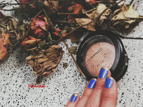 make-up mac kiko highlighter blue nail polish