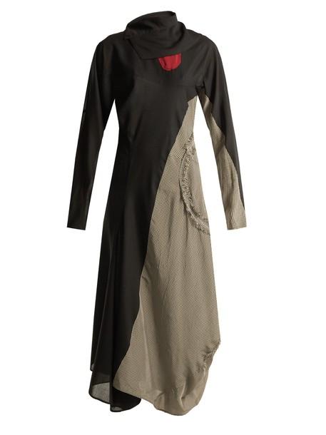Acne Studios dress back open wool black