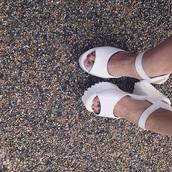 shoes,sandals,chunky sandals,platform shoes,tumblr,white,fashion,white fashion,white aesthetic,grunge,pale,pale grunge,high heel sandals,pale aesthetic