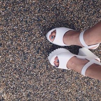 shoes sandals chunky sandals platform shoes tumblr white fashion white fashion white aesthetic grunge pale pale grunge high heel sandals pale aesthetic