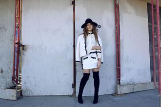 kayture blogger skirt jacket shoes blouse hat