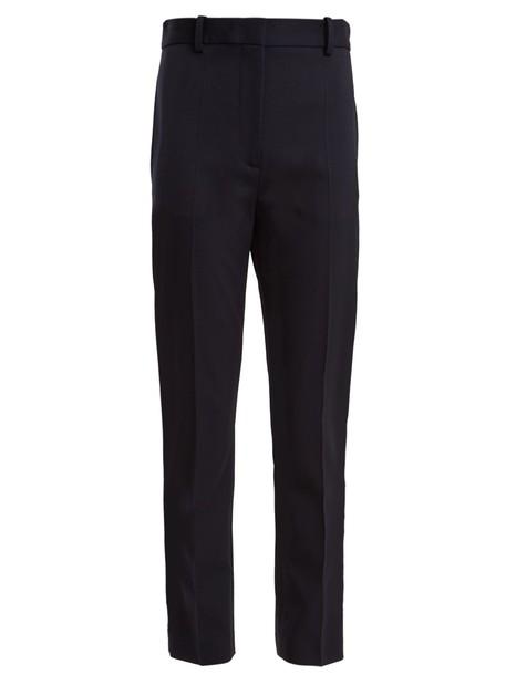 Joseph cropped wool navy pants