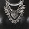 Aztec queen statement necklace - silver