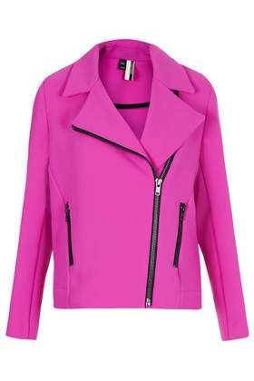 Heavy Crepe Biker Jacket - Bikers & Bombers - Jackets & Coats  - Clothing - Topshop
