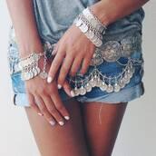 belt,gypsy,coins,silver,bohemian,boho,hippie