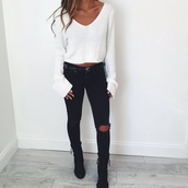 jeans,black,black and white,style