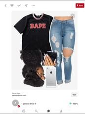 t-shirt,bape
