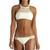 Vitamin A Swimwear Nicola High Neck Neutra Hipster Esperanza Mesh Cream - Resort Runway