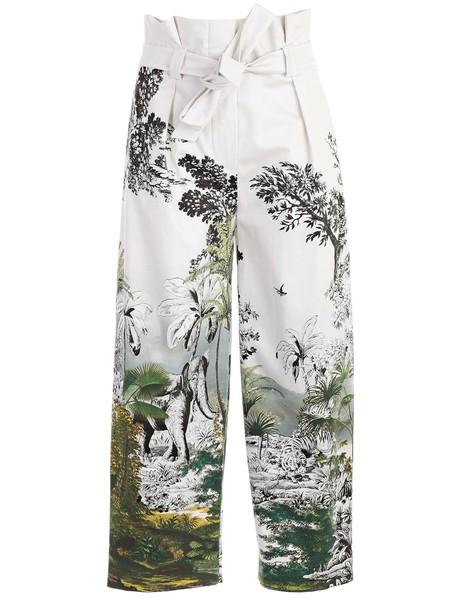 Alberta Ferretti print pants