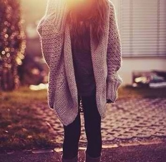 sweater winter outfits chunky cardigan warm oversized cardigan oversized sweater cute grey coat back to school lifestyle brown winter sweater