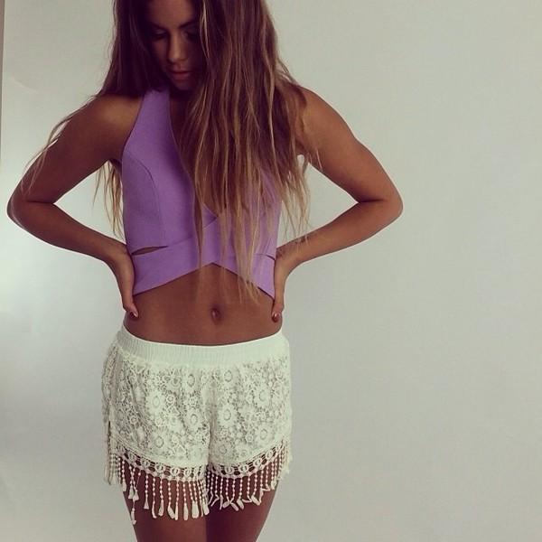 shorts crochet white summer shorts summer cardigan shirt
