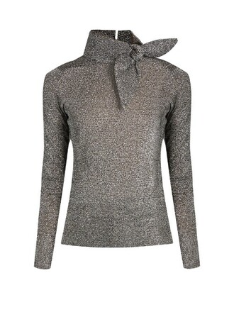 sweater high silver