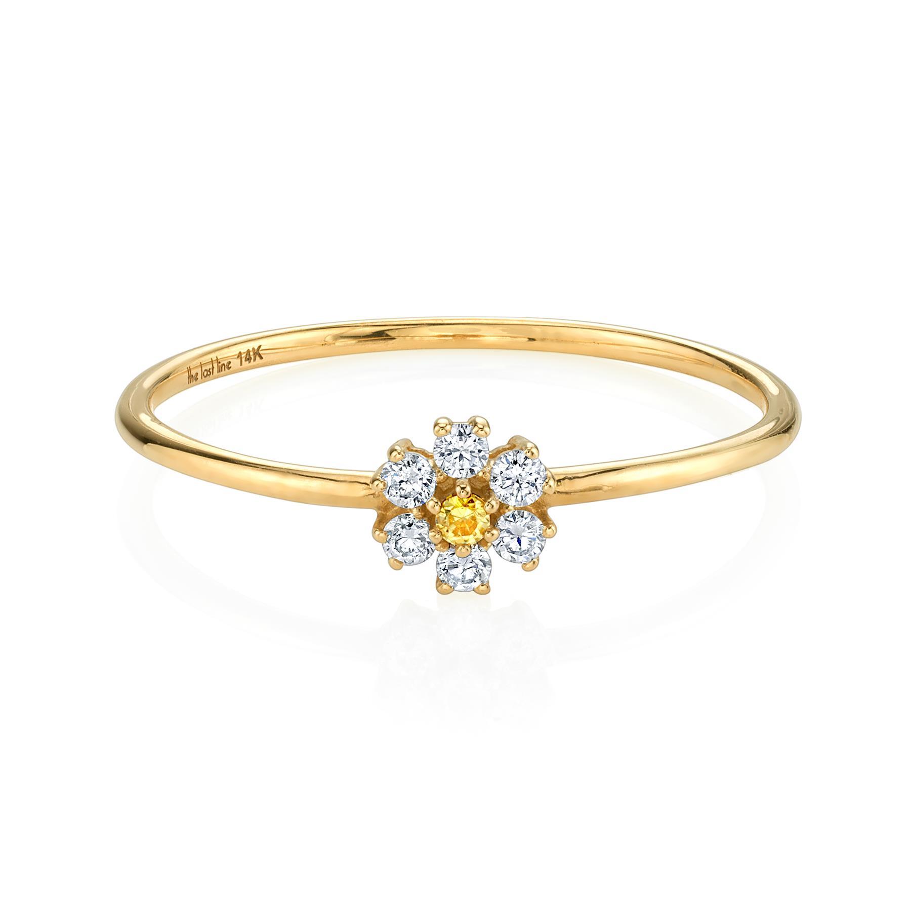 MINI DIAMOND TEDDY FLOWER RING