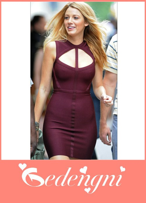 Casual?wine red bandage slim dress get free shipping & easy returns at gedengni.com,bandage dresses
