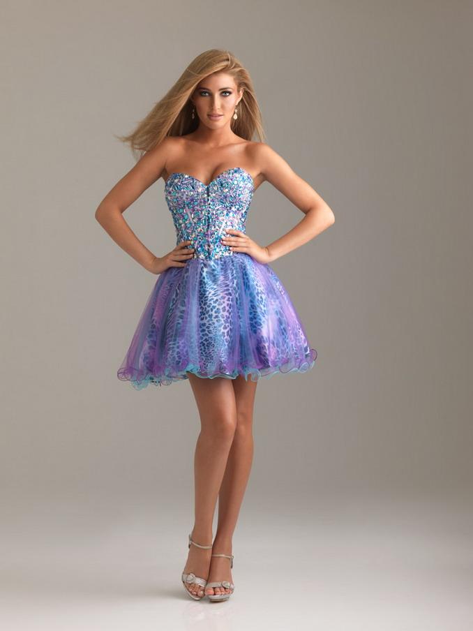 Purple Short Prom Dress - Ocodea.com