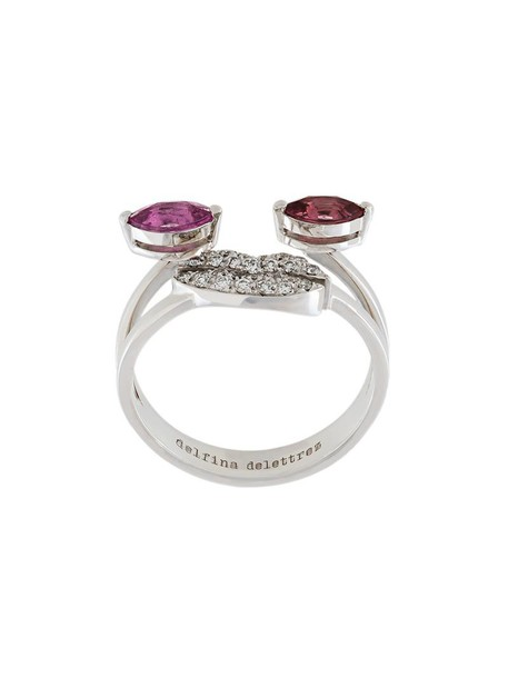 Delfina Delettrez women embellished ring gold white grey metallic jewels