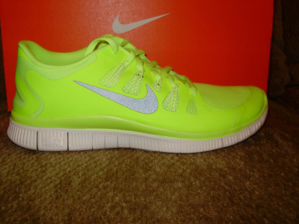 Nike FREE 5.0 Running Shoes Neon Yellow Volt Gray 579959 ...