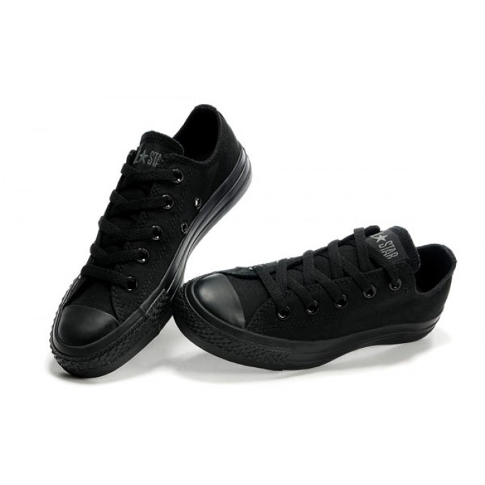 Converse all star chuck taylor all star mono ox black trainers