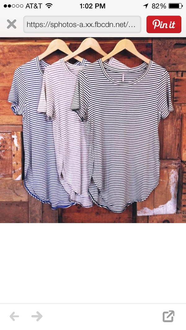 stripes big flowy t-shirt