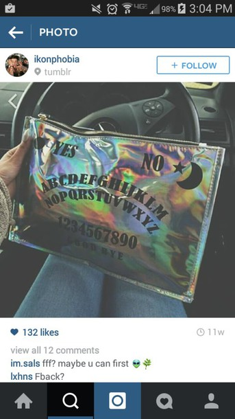 bag holographic