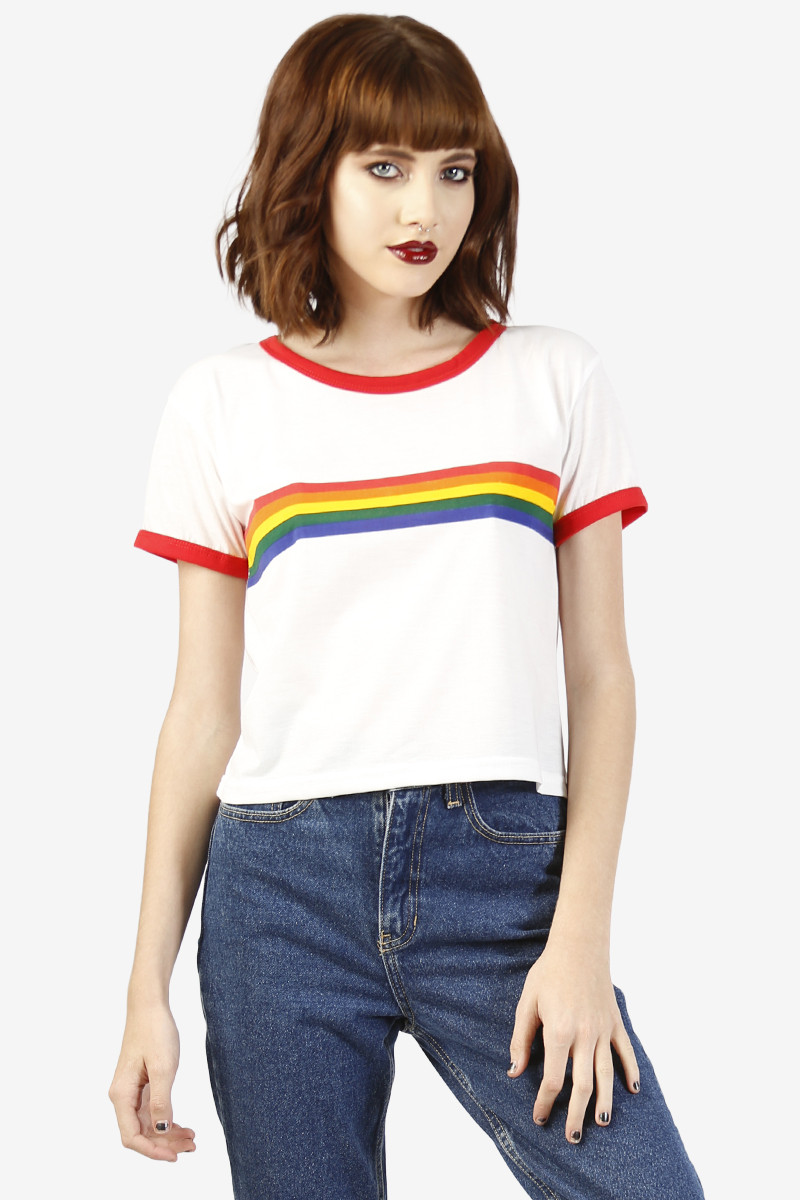 b86dc7b3a Rainbow Ringer Tee – Echo Club House