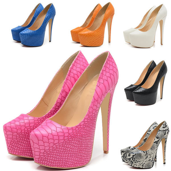Women's extreme platform pump stilettos high heels wedding dress shoes us 4 11