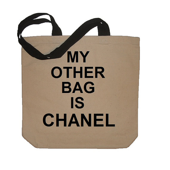 My other bag is chanel funny cotton canvas tote par meandmy3boys