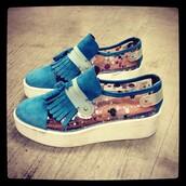 shoes,platform shoes,solestruck,blue,confetti,color/pattern,colorful,cool,girl,white,beautiful