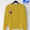 French potato yellow sweatshirt