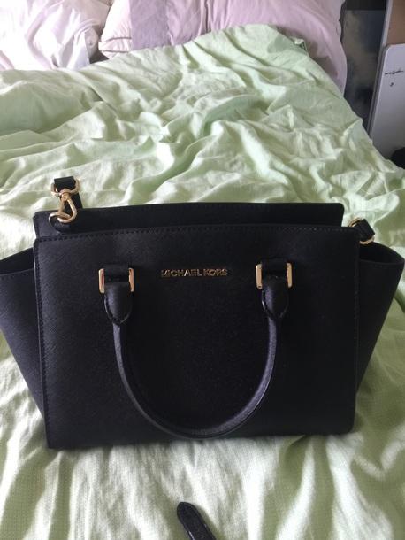 bag michael kora: black bag: simple bag: city bag