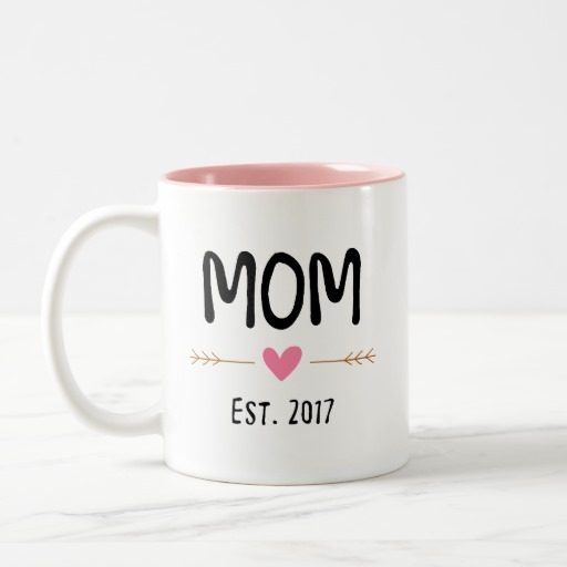 mom love est 2017 Two-Tone coffee mug