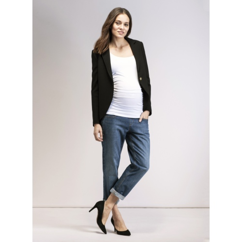 Everyday Maternity Blazer in Black | ISABELLA OLIVER
