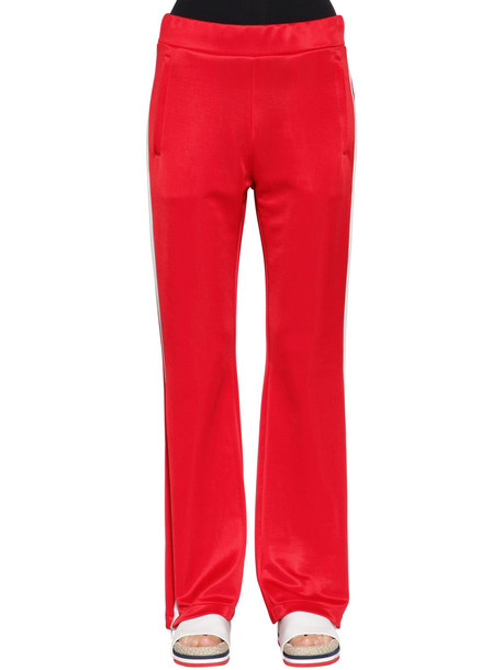 MONCLER Soft Jersey Track Pants With Side Bands in red