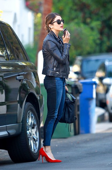 sunglasses jeans two tone nikki reed fall outfits